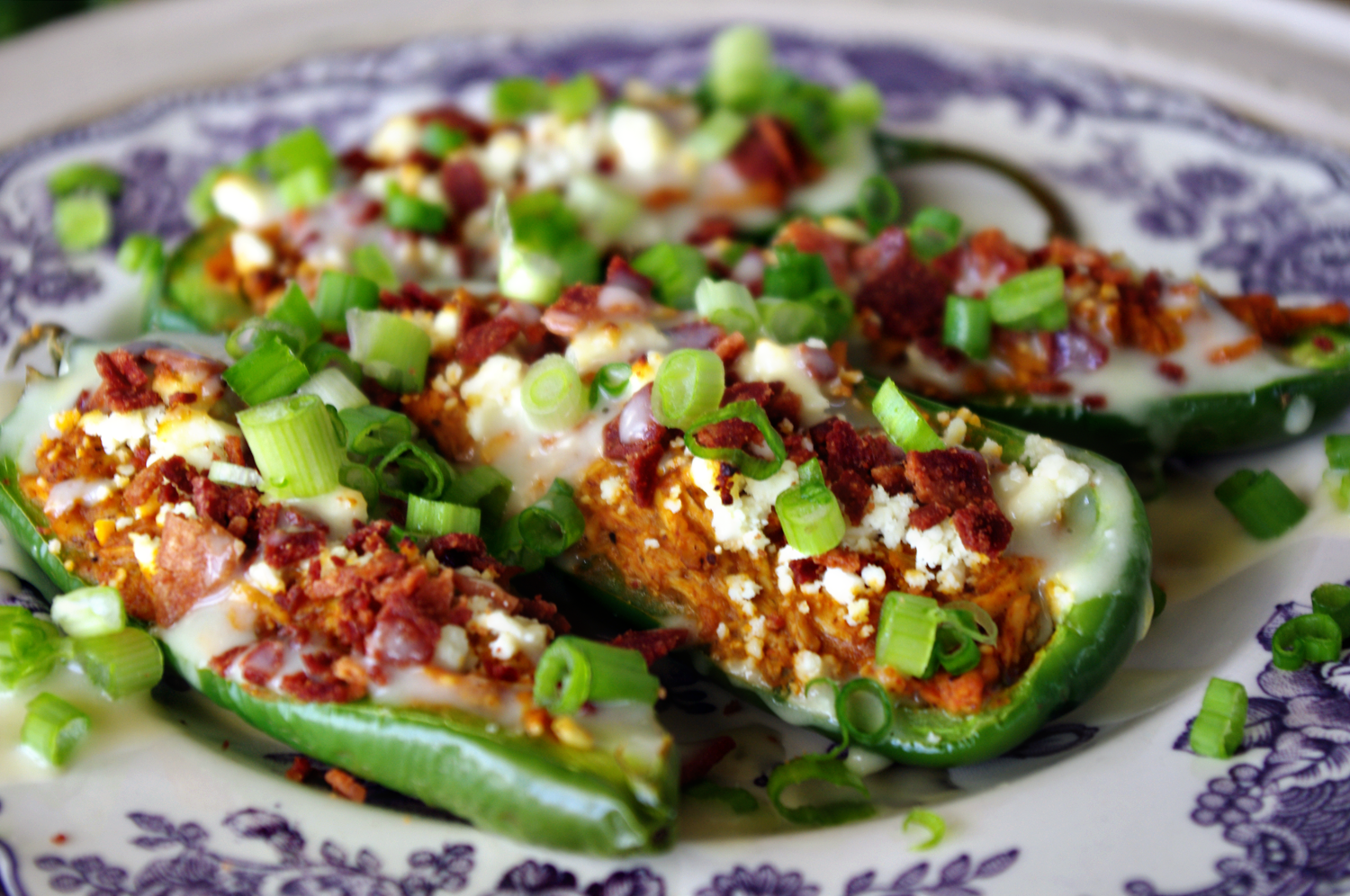 Buffalo Chicken Jalapeno Poppers