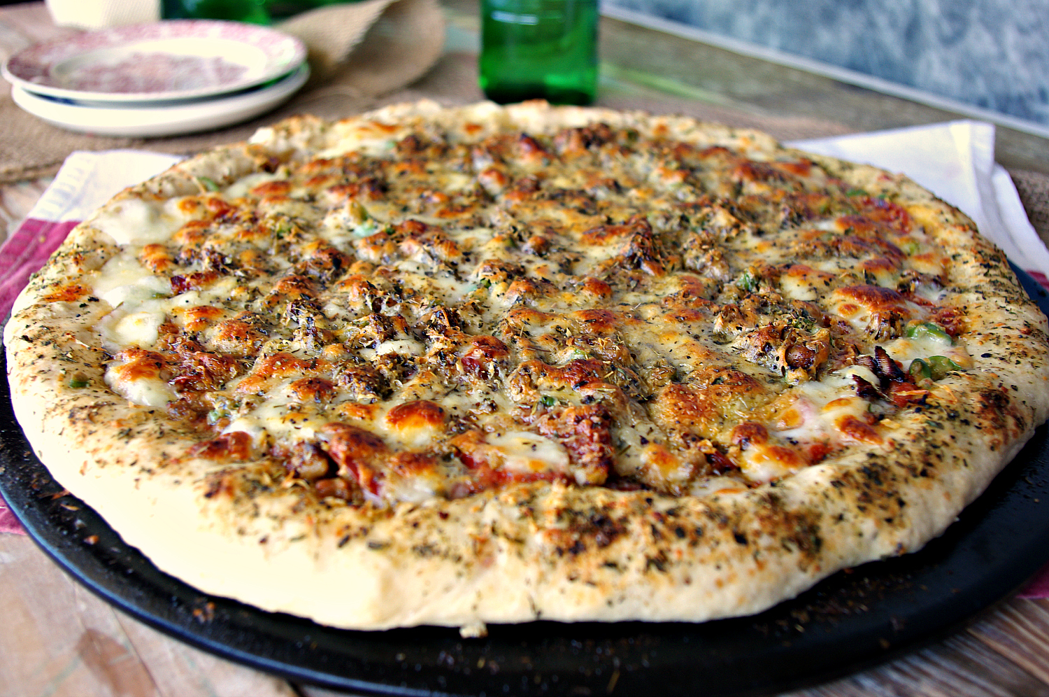 Stuffed Crust Pizza | Dixie Chik Cooks
