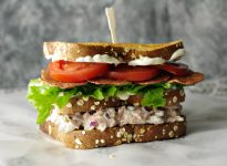 Double Decker Ham Salad BLT