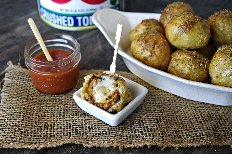 Meatball Stuffed Pretzels