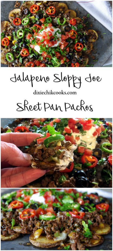 Jalapeno Sloppy Joe Sheet Pan Pachos