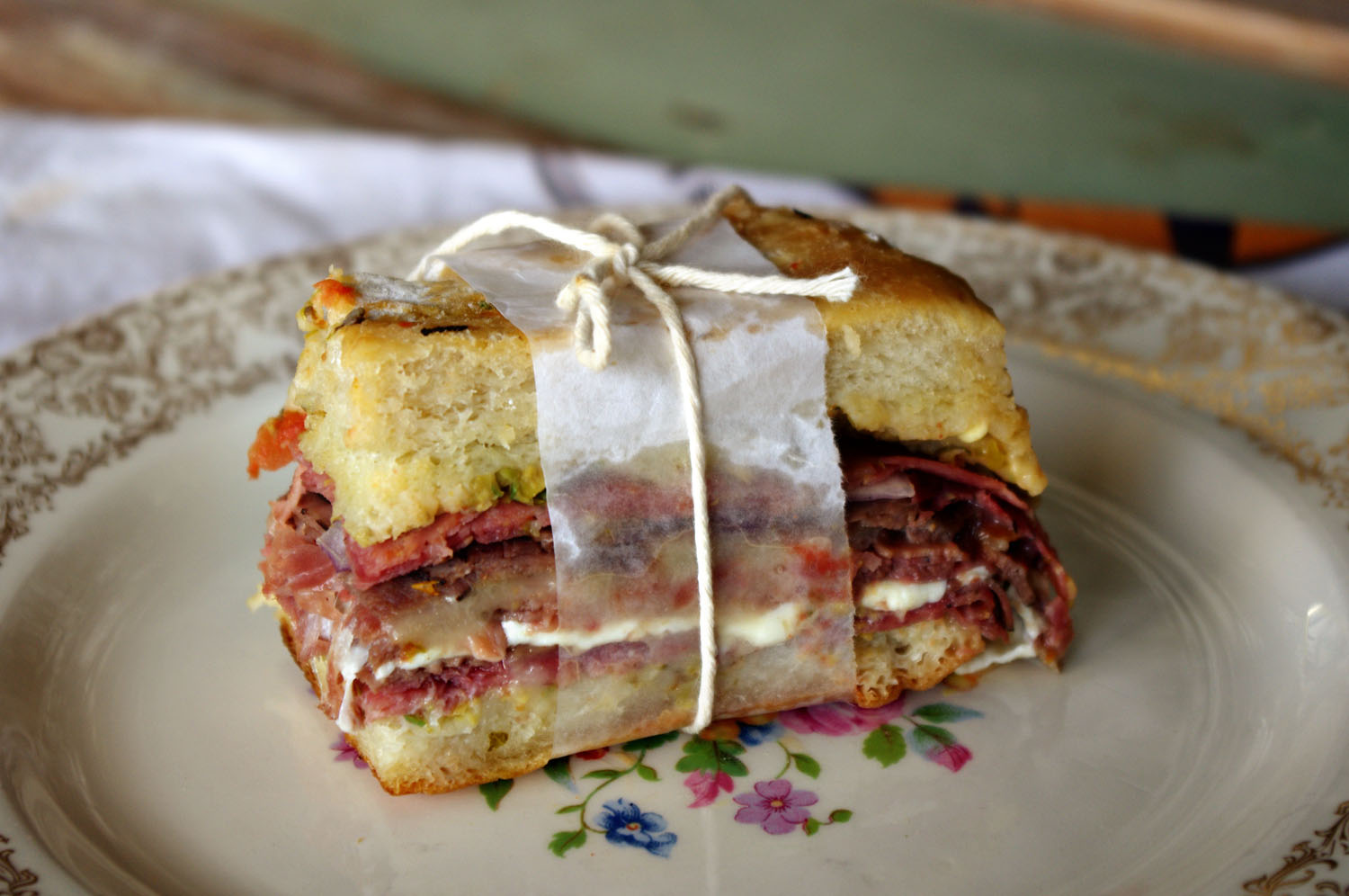 Muffaletta With Olive Tapenade Dixie Chik Cooks