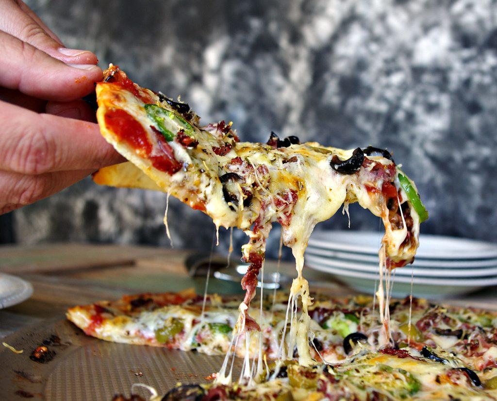 Spicy Puttanesca Pizza