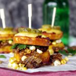 Braised Rib Sliders on Jalapeno Cheddar Corn Muffins