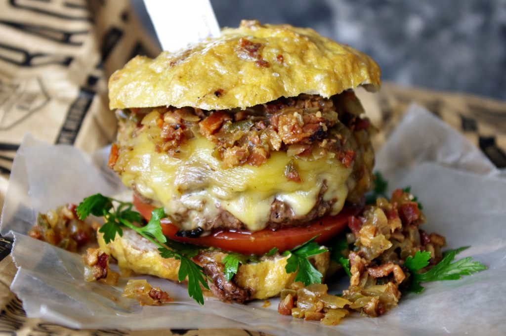 Bacon Tequila Jam Burger