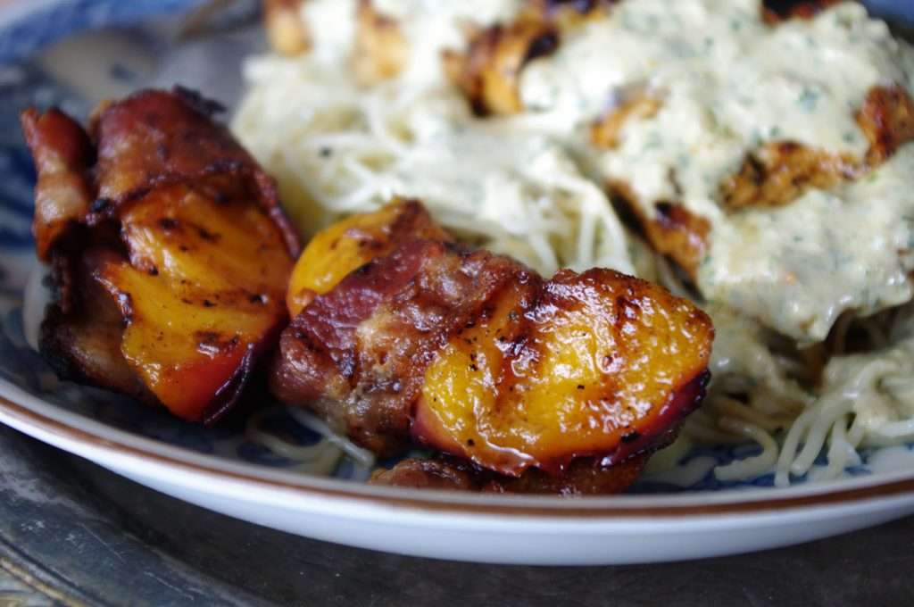 Bacon Wrapped Peaches