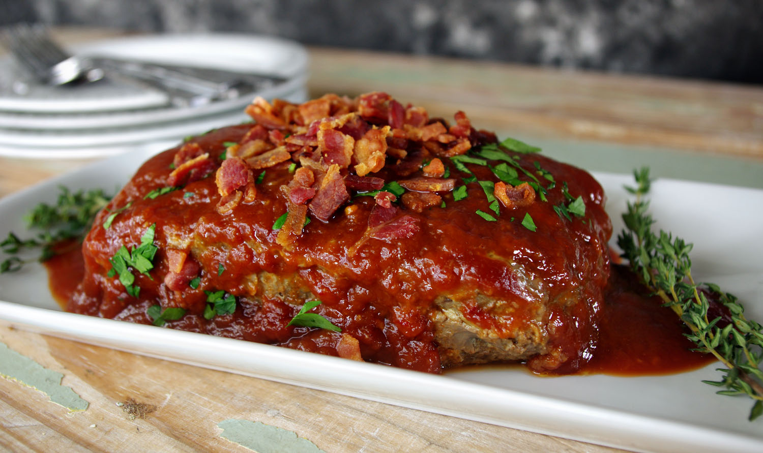 Chipotle Peach Meatloaf