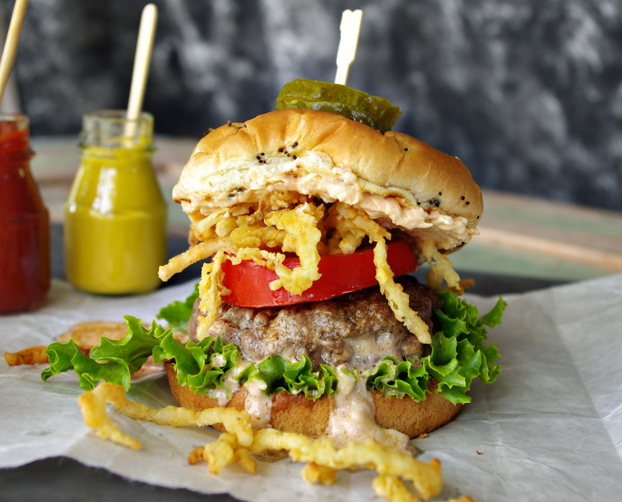 Jalapeno Pimento Cheese Stuffed Burger