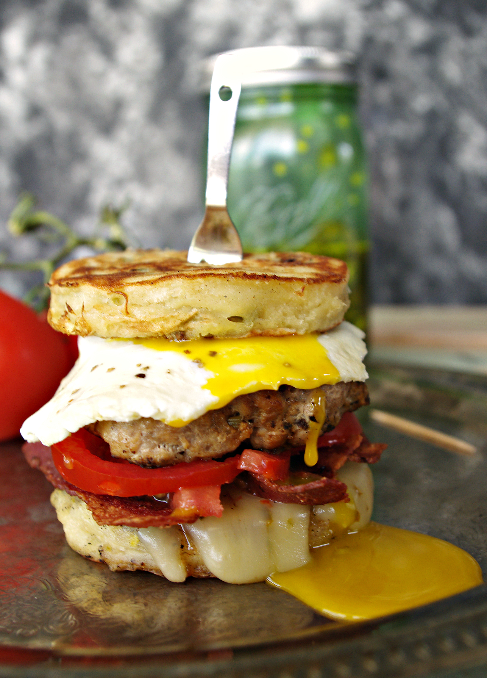 Brunch Burger | Dixie Chik Cooks