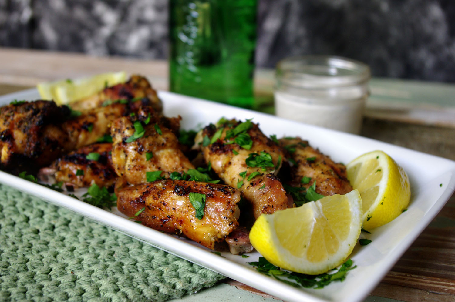 Smoked Lemon Pepper Wings