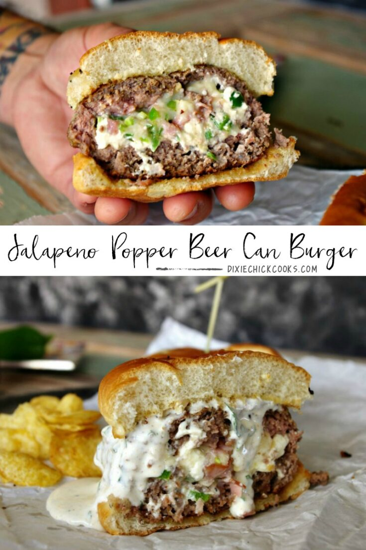 Jalapeno Popper Beer Can Burger