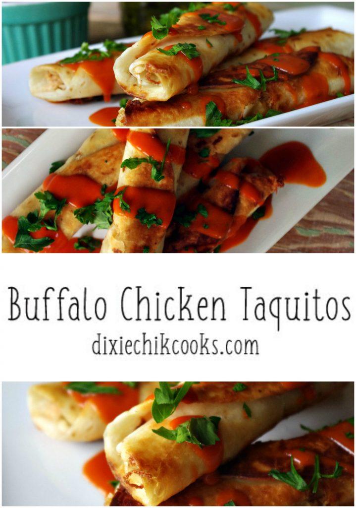 Buffalo Chicken Taquitos | Dixie Chik Cooks