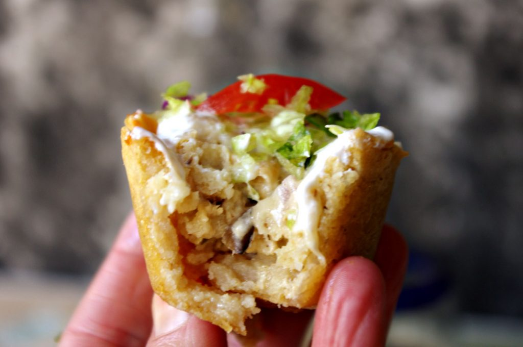 Smoked Chicken Tamale Cups