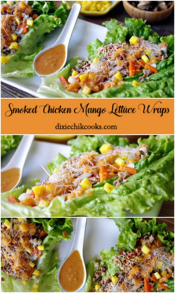 Smoked Chicken Mango Lettuce Wraps