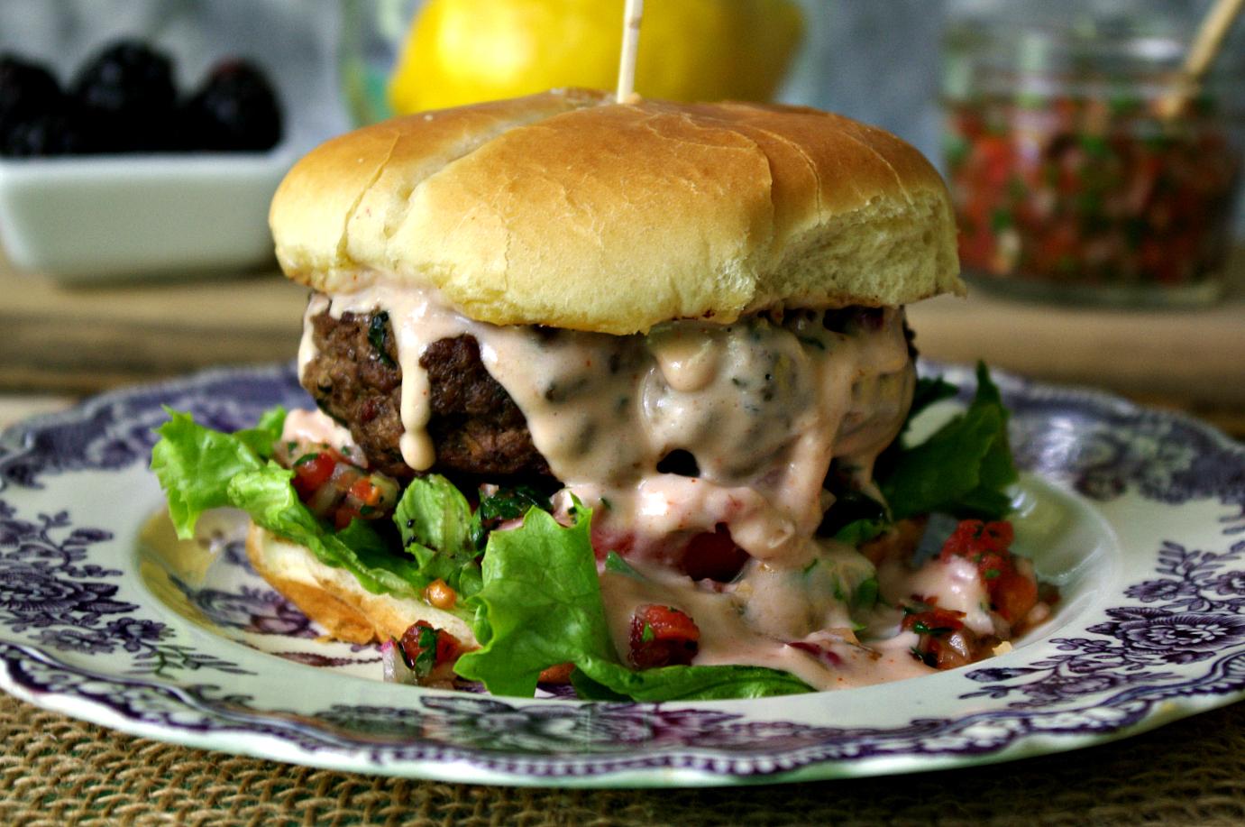 Tabbouleh Burger   Dixie Chik Cooks