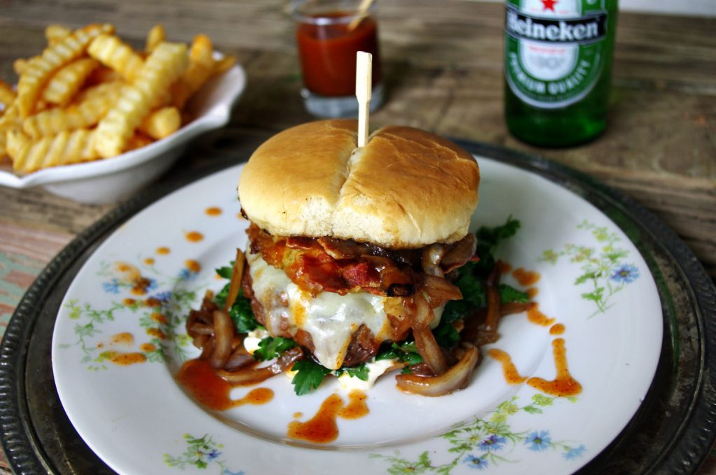 Ham and Sirloin Burger