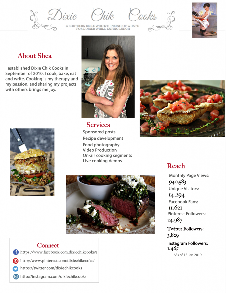 Dixie Chik Cooks Media Kit
