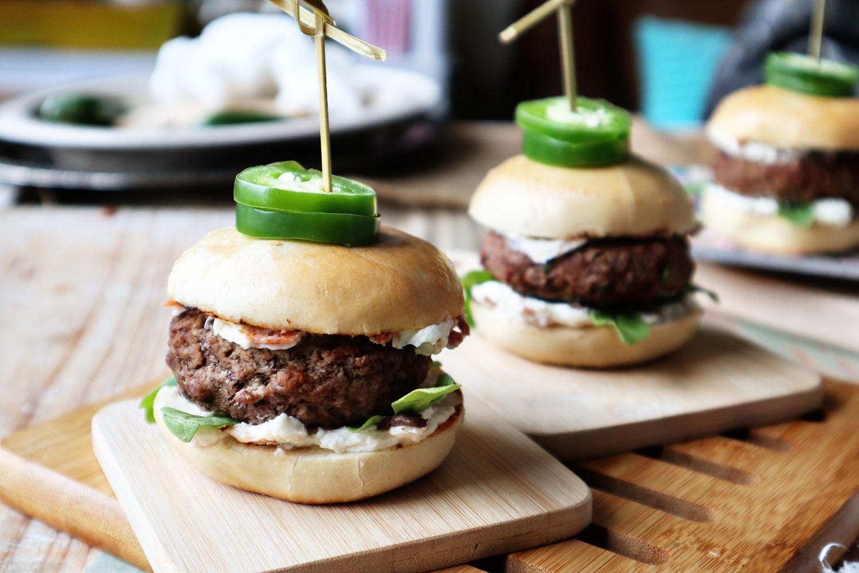 Jalapeno Popper Bagel Burger