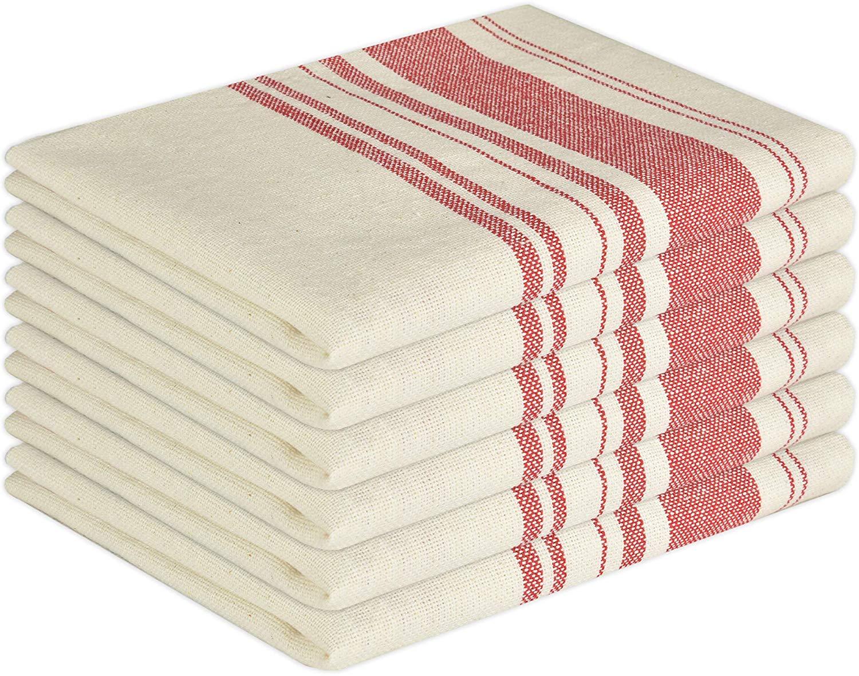 Glamburg Vintage Stripe Premium Cotton Kitchen Dish Towels 6 ...