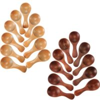 Leinuosen 20 Pieces Small Wooden Spoons