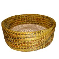 Warming Bread Basket w/ Warmer Tile Stone for Rolls