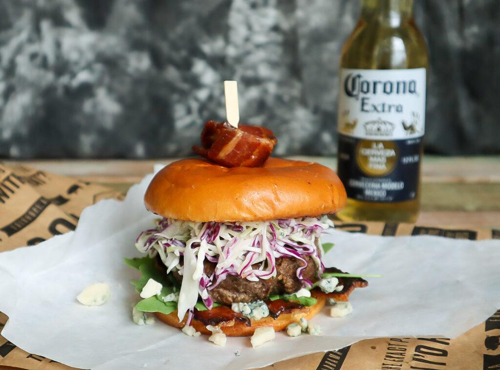 Gorgonzola Jerk Burger