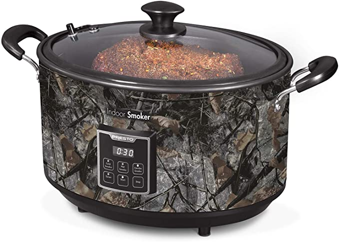 Presto 06014 Indoor Electric Smoker, 6 QT, Camo