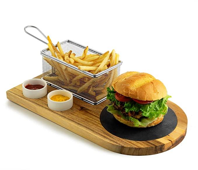 Yukon Glory Burger Serving Set   Dixie Chik Cooks
