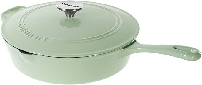 Cuisinart Cast Iron Chicken Fryer, Mint Green, 12″
