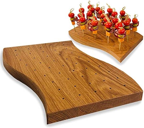 Wooden Food Skewer Holder
