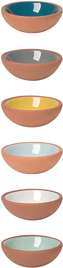Now Designs Terracotta Pinch Bowls, Set of 6 | Dixie Chik Cooks