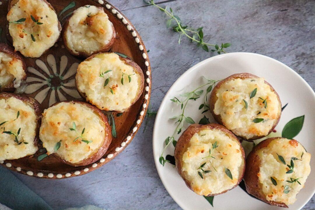 Cheesy Twice Baked New Potatoes